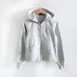 lululemon rainbow polka dot scuba hoodie - size 6